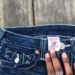 vintage lined true religion flared jeans!